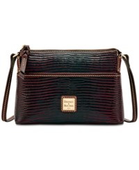 Dooney And Bourke Lizard Embossed Ginger Crossbody A Macy's Exclusive Style Bordeaux