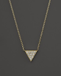 Kc Designs Diamond Triangle Pendant Necklace In 14K Yellow Gold 16