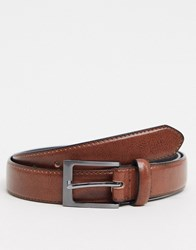 New Look Faux Leather Formal Belt In Brown