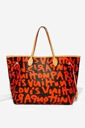 Nasty Gal Vintage Louis Vuitton Sprouse Neverfull Gm Tote Bag