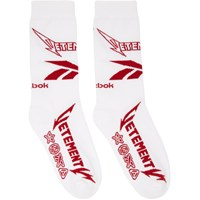 Vetements White Reebok Edition Metal Socks