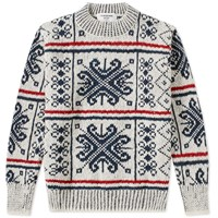 Thom Browne Fair Isle Mohair Crew Knit Multi
