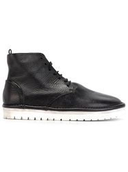 Marsell Marsell Ridged Rubber Sole Lace Up Boots Black