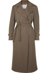 Giuliva Heritage Collection Christie Wool Trench Coat Beige