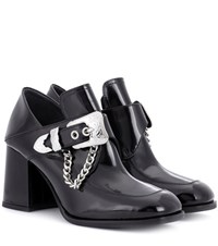 Mcq By Alexander Mcqueen Leah Patent Leather Ankle Boots Black