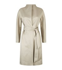 Reiss Melissa Belted Coat Female Grey