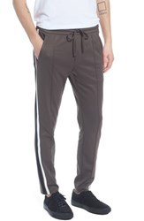 Vince Color Block Track Pants Dried Herb