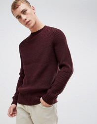 New Look Raglan Jumper In Burgundy Dark Burgundy Red