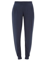 Derek Rose Basel Micromodal Blend Track Pants Blue