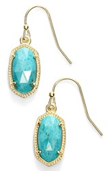 Kendra Scott Women's 'Lee' Small Drop Earrings Turquoise Gold Turquoise Gold