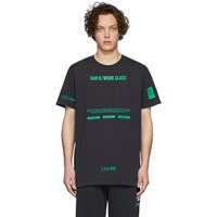 Han Kjobenhavn Black And Green Artwork T Shirt