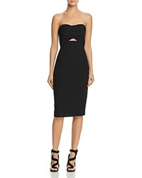 Black Halo Strapless Cutout Sheath Dress Black
