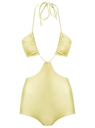 Adriana Degreas Cut Out Details Swimsuit Green