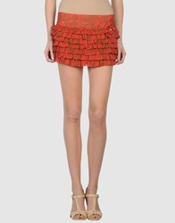 Fornarina Skirts Mini Skirts Women Rust
