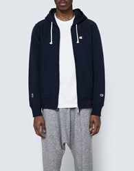 Champion X Beams Hooded Sweatshirt Navy