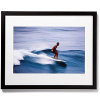 Sonic Editions Framed Surfer In Honolulu Print 16 X 20 Black