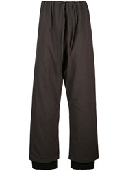 Y Project Pinstripe Wide Leg Trousers Brown