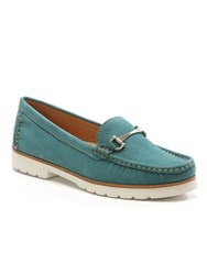 Daniel Gladiolus Buckled Loafers Green