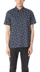 Paul Smith Ps By Short Sleeve Mini Floral Shirt Navy