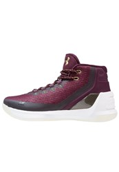 Under Armour Curry 3 Basketball Shoes Systematic White Mango Bordeaux