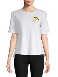 Lucca Couture Allie Lemon Cotton Tee White