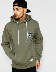 Hype Hoodie With Crest Logo Green