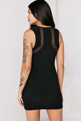 Silence And Noise Mesh Inset Bodycon Mini Dress Black