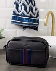 Ted Baker Benny Wash Bag And Towel Gift Set Black