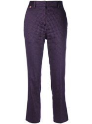 Paul Smith Spotted Trousers Women Cotton Spandex Elastane 44 Pink Purple