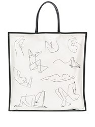 Jil Sander Square Tote Bag White