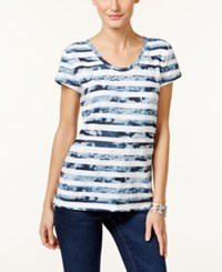 Styleandco. Style Co. Bandana Print T Shirt Only At Macy's Blue