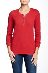 Barbour Fleet Thermal Henley Red