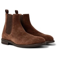 Brunello Cucinelli Suede Chelsea Boots Brown