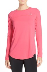 Under Armour Women's Sunblock Pullover Harmony Red