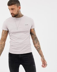 Religion T Shirt With Back Panel In Ash Pink