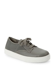 Eileen Fisher Koi Leather Sneakers Graphite