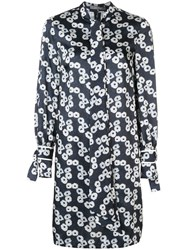 Lela Rose Short Printed Dress Black