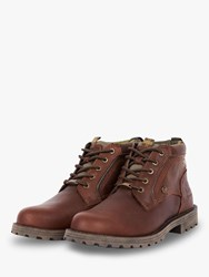Barbour Carrock Leather Waterproof Chukka Boots Brown