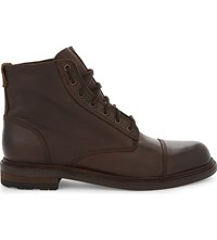 Aldo Acerrassi Leather Mid Top Ankle Boots Camel