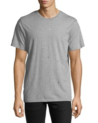 Ovadia And Sons Splattered Crewneck T Shirt Gray