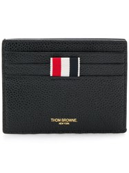 Thom Browne Rwb Edge Stain Double Sided Cardholder Black