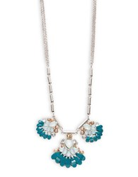 Catherine Stein Turquoise Cluster Statement Necklace Blue Combo