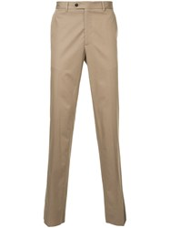 Gieves And Hawkes Tailored Trousers Cotton Brown