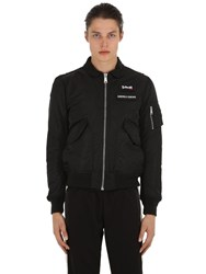 Andrea Crews Schott Bomber Jacket Black