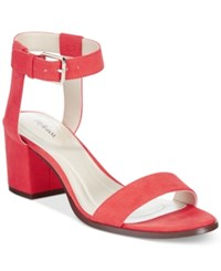 Styleandco. Style And Co. Mullaney Ankle Strap Embellished Sandals Only At Macy's Women's Shoes Coral