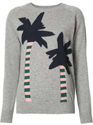 Chinti And Parker Palm Trees Jumper Grey