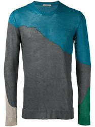 Roberto Collina Colour Block Jumper Blue