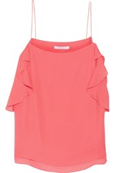 10 Crosby By Derek Lam Ruffled Silk Camisole Orange