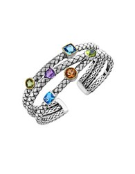 Effy Semi Precious Multi Stone Sterling Silver And 18K Yellow Gold Bangle Bracelet