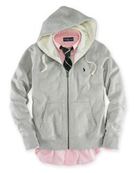 Polo Ralph Lauren Full Zip Fleece Hoodie Light Sport Heather